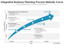 Integrated Business Planning Process Maturity Curve
