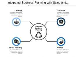 Integrated Business Planning With Sales And Marketing Finance