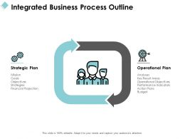 Integrated Business Process Outline Ppt Powerpoint Presentation File Guide