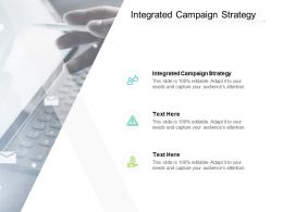 Integrated Campaign Strategy Ppt Powerpoint Presentation File Graphics Pictures Cpb