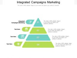 Integrated Campaigns Marketing Ppt Powerpoint Presentation Icon Graphics Design Cpb