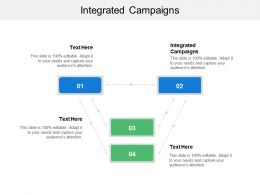 Integrated Campaigns Ppt Powerpoint Presentation File Design Ideas Cpb