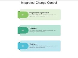 Integrated Change Control Ppt Powerpoint Presentation File Demonstration Cpb