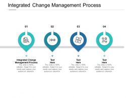 Integrated Change Management Process Ppt Powerpoint Presentation Outline Cpb