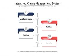 Integrated Claims Management System Ppt Powerpoint Presentation Outline Structure Cpb