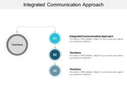 Integrated Communication Approach Ppt Powerpoint Presentation Outline Good Cpb