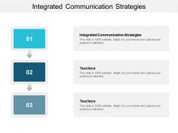 Integrated Communication Strategies Ppt Powerpoint Presentation Outline Images Cpb