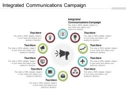 Integrated Communications Campaign Ppt Powerpoint Presentation File Gridlines Cpb