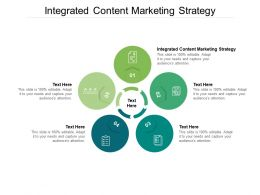 Integrated Content Marketing Strategy Ppt Powerpoint Presentation Visual Aids Cpb