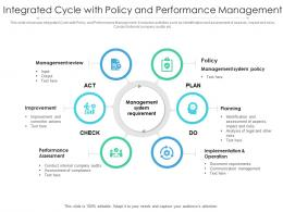 Integrated Cycle With Policy And Performance Management