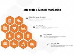 Integrated Dental Marketing Ppt Powerpoint Presentation Model Vector