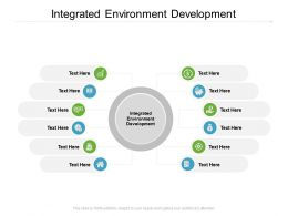 Integrated Environment Development Ppt Powerpoint Presentation Infographics Cpb