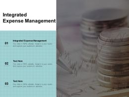 Integrated Expense Management Ppt Powerpoint Presentation Gallery Layouts Cpb