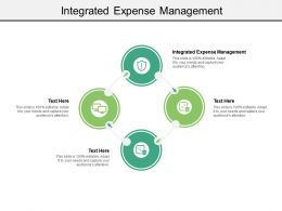Integrated Expense Management Ppt Powerpoint Presentation Styles Infographic Template Cpb