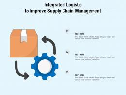 Integrated Logistic To Improve Supply Chain Management