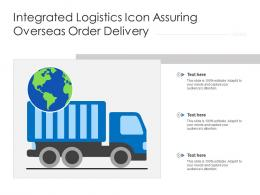 Integrated Logistics Icon Assuring Overseas Order Delivery