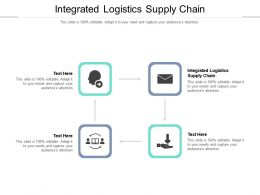 Integrated Logistics Supply Chain Ppt Powerpoint Presentation Ideas Show Cpb