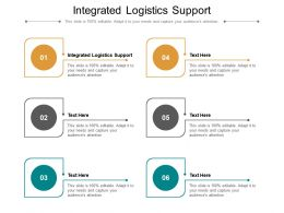 Integrated Logistics Support Ppt Powerpoint Presentation Professional Format Ideas Cpb