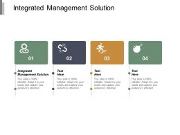Integrated Management Solution Ppt Powerpoint Presentation Portfolio Example File Cpb