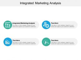 Integrated Marketing Analysis Ppt Powerpoint Presentation Icon Styles Cpb