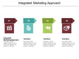 Integrated Marketing Approach Ppt Powerpoint Presentation Gallery Shapes Cpb