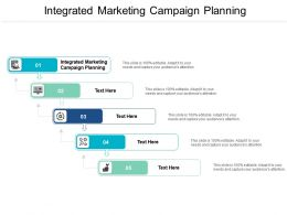 Integrated Marketing Campaign Planning Ppt Powerpoint Presentation Ideas Deck Cpb