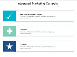 Integrated Marketing Campaign Ppt Powerpoint Presentation Layouts Diagrams Cpb