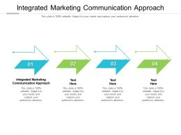 Integrated Marketing Communication Approach Ppt Powerpoint Presentation Background Cpb