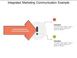 Integrated Marketing Communication Example Ppt Powerpoint Presentation File Design Ideas Cpb