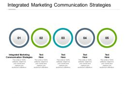 Integrated Marketing Communication Strategies Ppt Powerpoint Presentation Portfolio Cpb