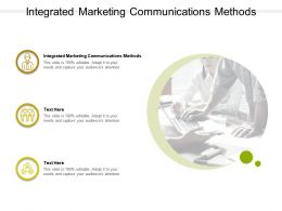 Integrated Marketing Communications Methods Ppt Powerpoint Presentation Inspiration Sample Cpb