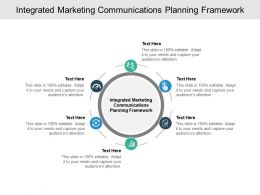 Integrated Marketing Communications Planning Framework Ppt Slides Cpb