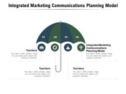 Integrated Marketing Communications Planning Model Ppt Powerpoint Presentation Cpb