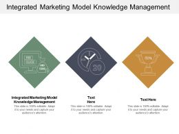 Integrated Marketing Model Knowledge Management Ppt Powerpoint Presentation Professional Cpb
