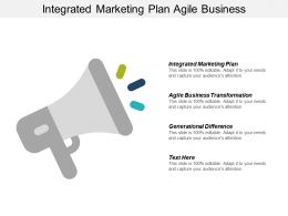 Integrated Marketing Plan Agile Business Transformation Generational Difference Cpb