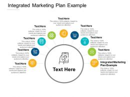 Integrated Marketing Plan Example Ppt Powerpoint Presentation Portfolio Good Cpb