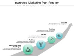 Integrated Marketing Plan Program Ppt Powerpoint Presentation File Rules Cpb