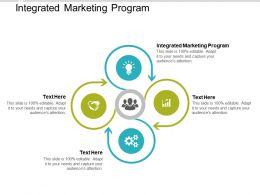 Integrated Marketing Program Ppt Powerpoint Presentation Slides Layout Cpb
