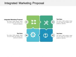 Integrated Marketing Proposal Ppt Powerpoint Presentation Slides Grid Cpb
