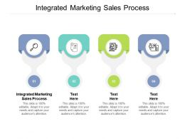 Integrated Marketing Sales Process Ppt Powerpoint Presentation Layouts Clipart Cpb