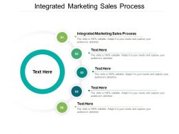 Integrated Marketing Sales Process Ppt Powerpoint Presentation Model Smartart Cpb