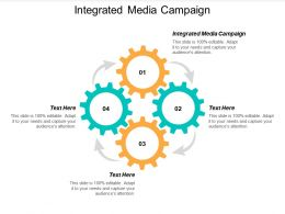 Integrated Media Campaign Ppt Powerpoint Presentation Icon Elements Cpb