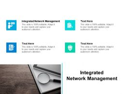 Integrated Network Management Ppt Powerpoint Presentation Designs Download Cpb
