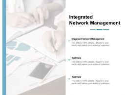 Integrated Network Management Ppt Powerpoint Presentation File Topics Cpb