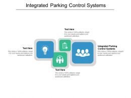 Integrated Parking Control Systems Ppt Powerpoint Presentation Infographics Themes Cpb