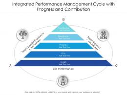 Integrated Performance Management Cycle With Progress And Contribution