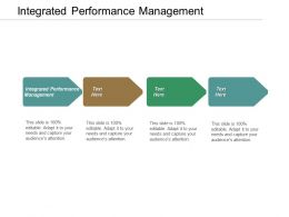 Integrated Performance Management Ppt Powerpoint Presentation Pictures Infographic Template Cpb