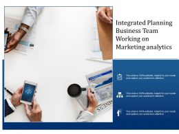Integrated Planning Business Team Working On Marketing Analytics