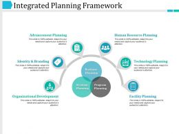 Integrated Planning Framework Powerpoint Slides Templates