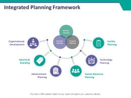 Integrated Planning Framework Ppt Summary Slides